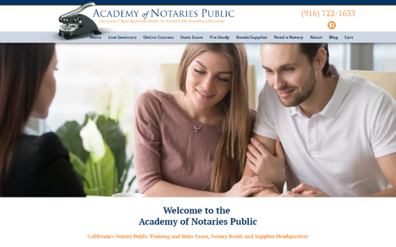 Visit the Academy of Notaries Public. Opens new window.