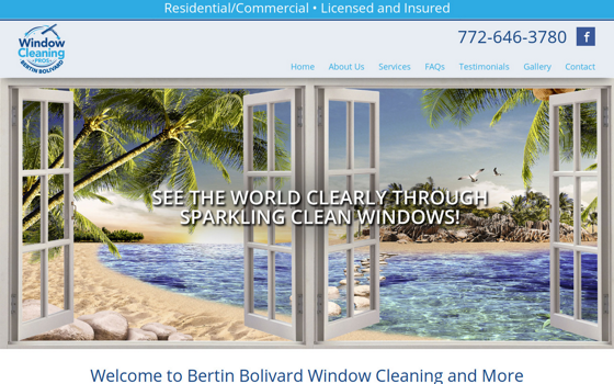 Bertin Bolivard Window Cleaning. Opens new window.