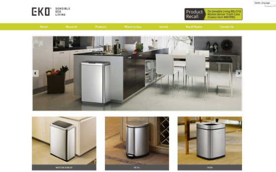 EKO Designer Trash Cans. This link opens new window.