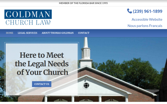 Goldman Church Law. Opens new window.