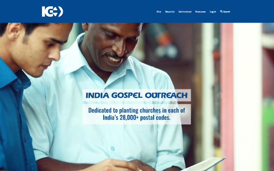 India Gospel Outreach. This link opens new window.