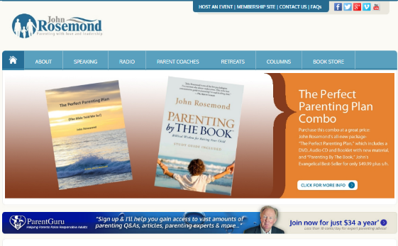 Visit John Rosemond's Parent Guru Website . This link opens new window.