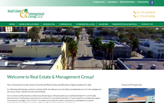 Redesign of Existing Client Website: Real Estate & Management Group