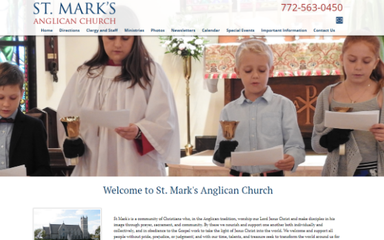 Visit the St. Mark's Anglican Church of Vero Beach website. This link opens new window.