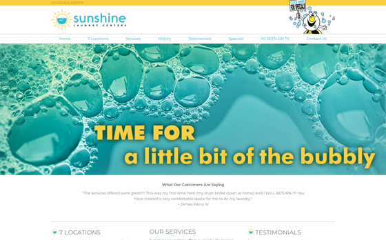 Sunshine Laundry Cleaners. This link opens new window.