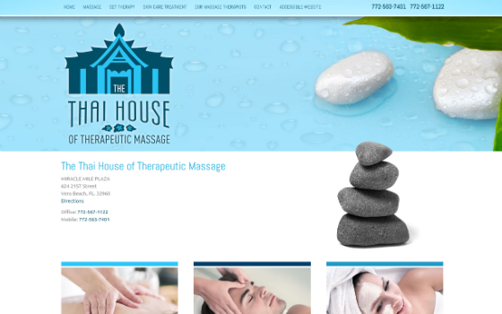 Thai House Therapeutic Massage. Opens new window.