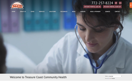 Visit Treasure Coast Community Health. This link opens new window.