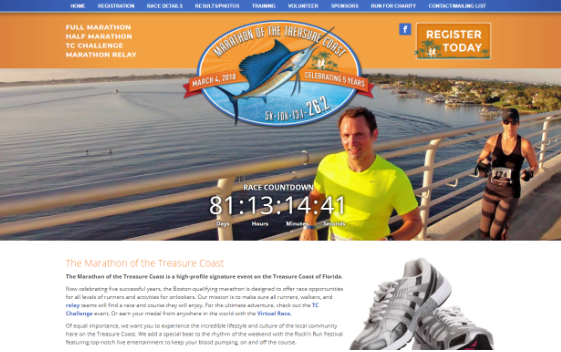 Visit Treasure Coast Marathon. This link opens new window.